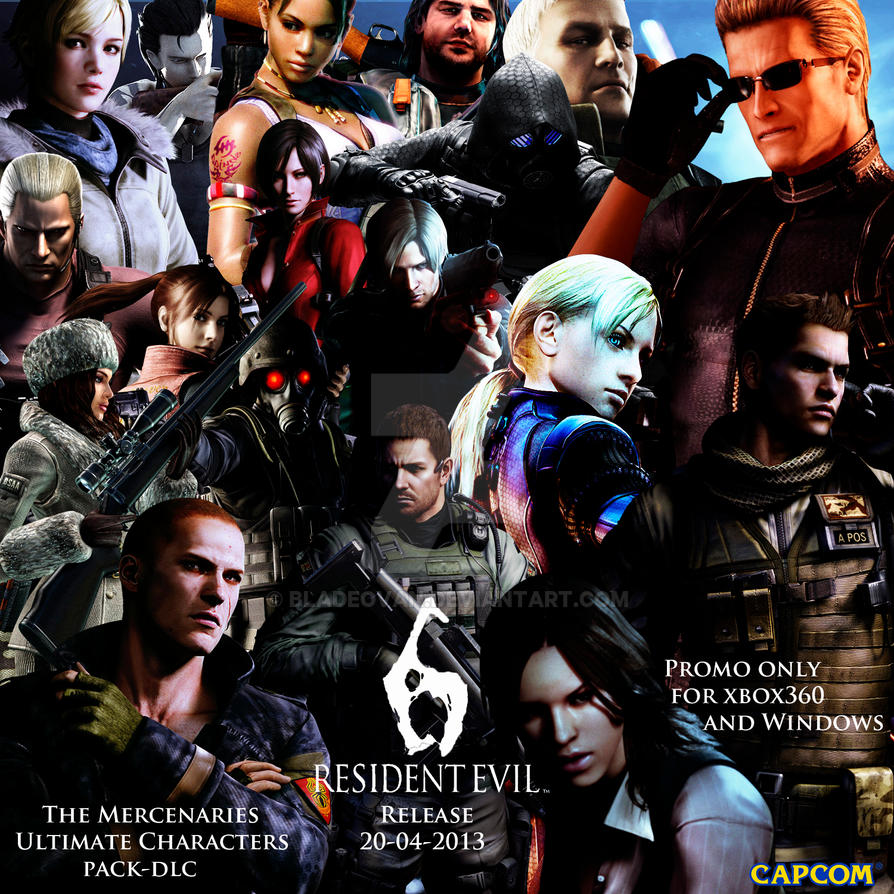 Resident Evil 6 Ultimate Characters Pack Dlc By Bladeovan On Deviantart