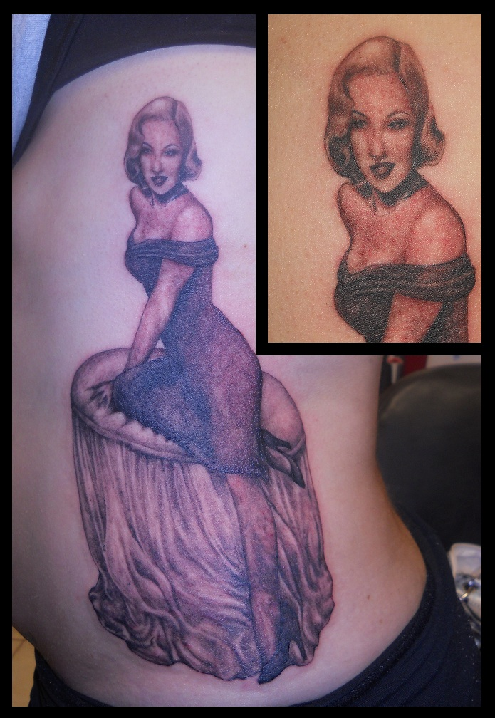 Tattoo - F12 - Marilyn by BooBelle