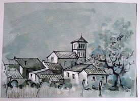 Village de Dordogne . INK.