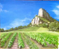 La roche de Solutre Bourgogne Oil 50x60