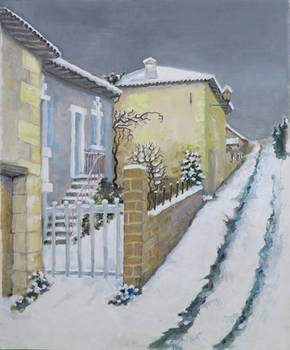 Authier house in winter
