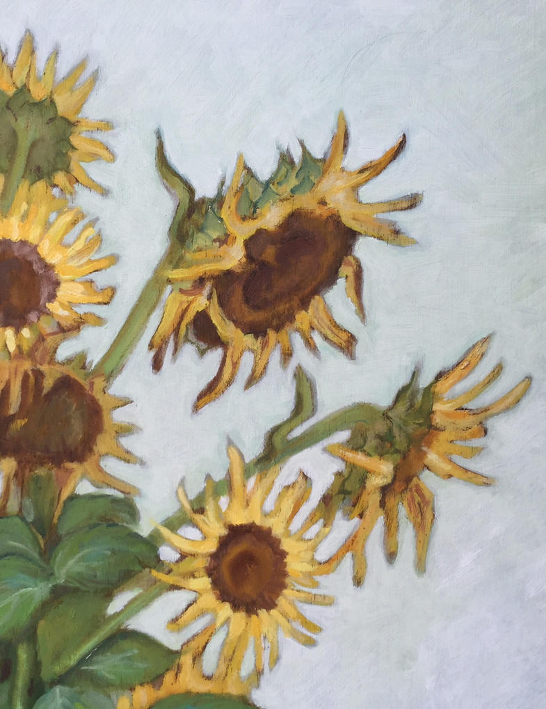 Wilted sunflowers (details) by ClairObscur16