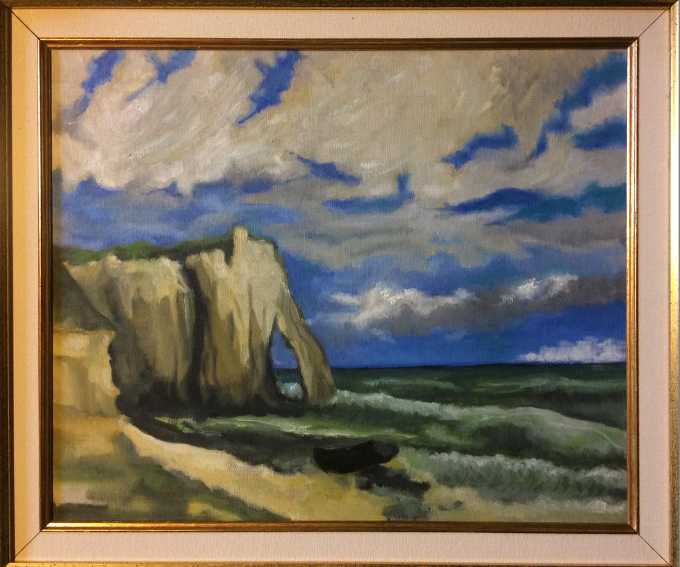 Etretat  - Oil on canvas -  40x48 by ClairObscur16