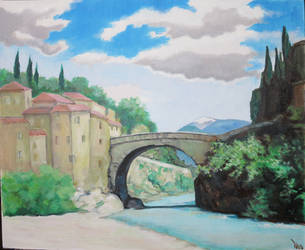 The Roman bridge, at Vaison-la Romaine - by ClairObscur16