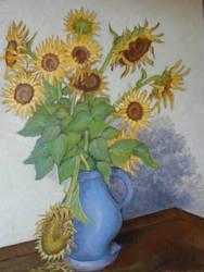 Faded sunflowers