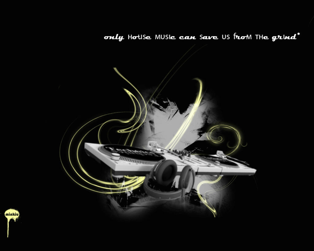 House music by minkiu on deviantart for House music art