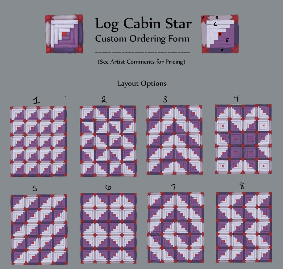 Log Cabin Custom Ordering Form By Earthbound Textiles On