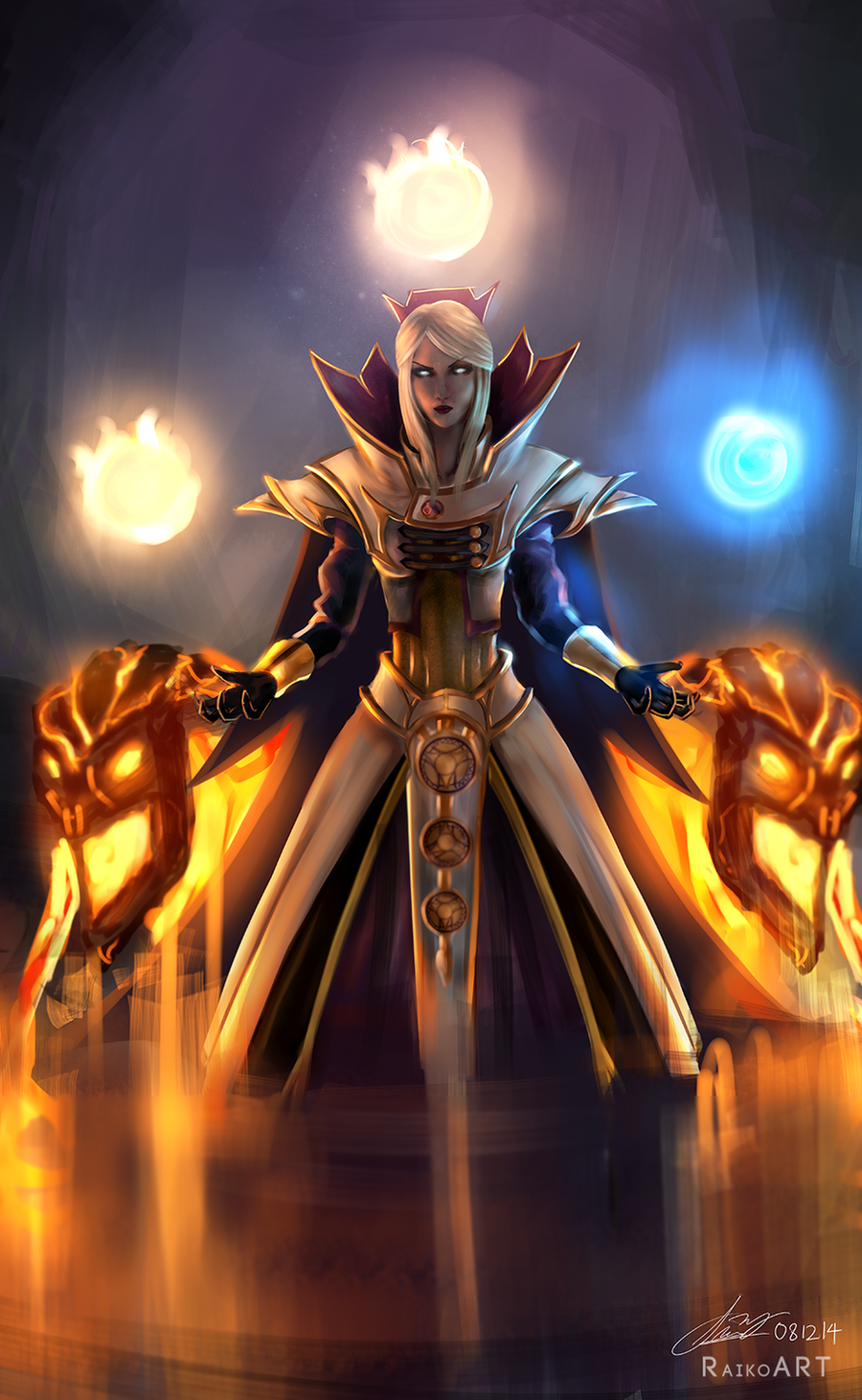 this is what i got from chinese dota2 forum for io arcane