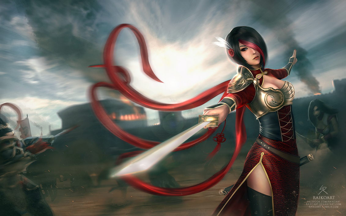League of Legends: Warring Kingdoms Fiora by raikoart