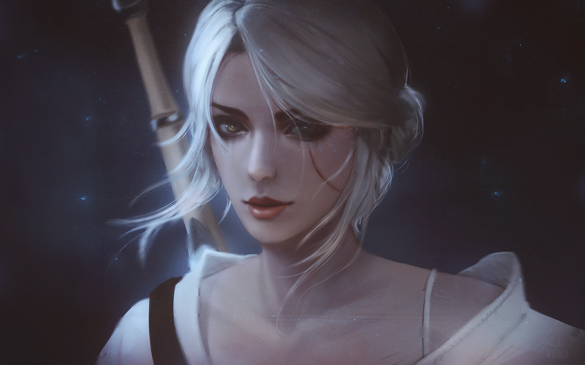 Witcher Ciri By Raikoart On Deviantart