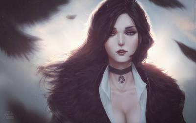 Witcher: Yennefer of Vengerberg by raikoart