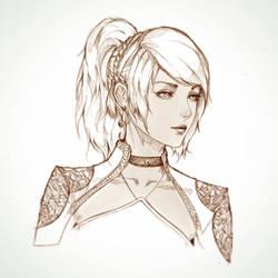 Lunafreya Sketch by raikoart
