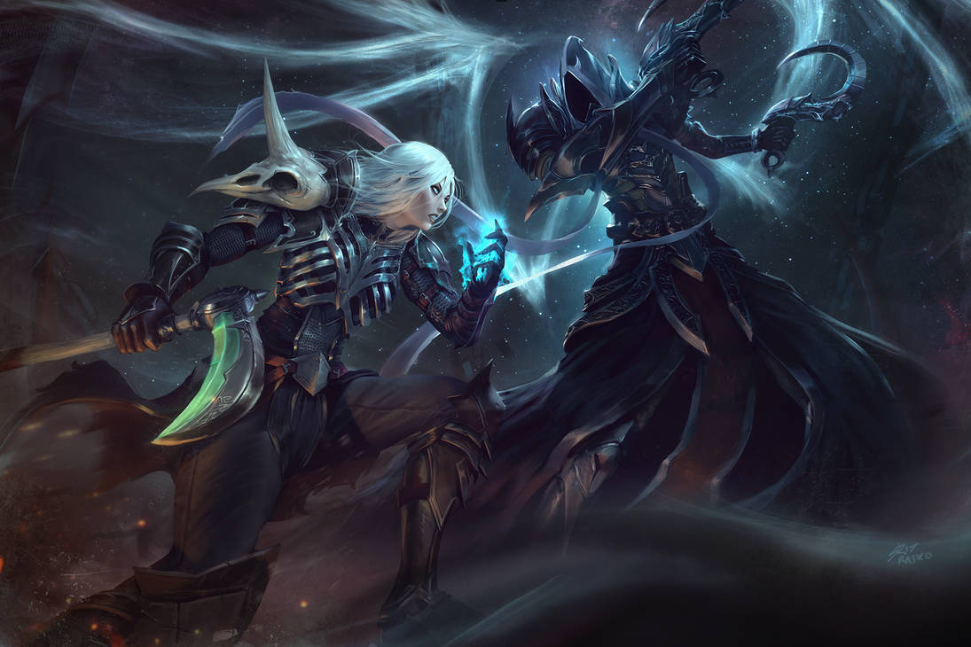 Necromancer Vs Malthael By Raikoart On Deviantart