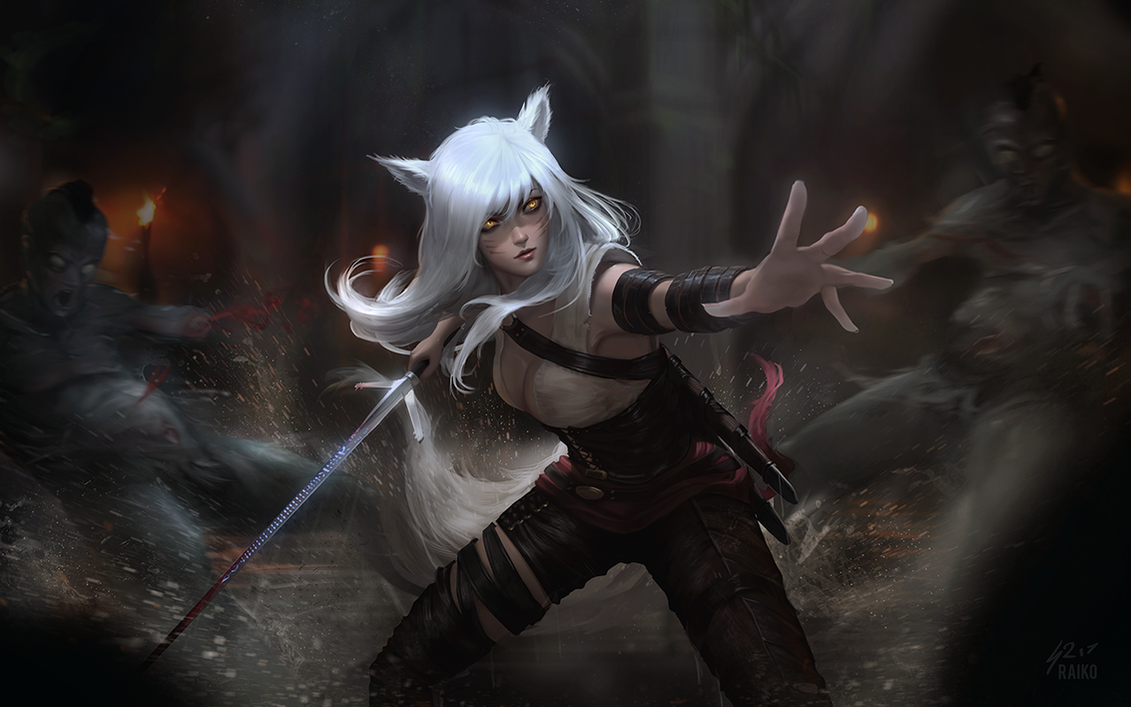 Witcher Ahri by raikoart on DeviantArt