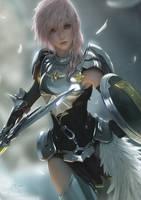 Knight of the Goddess - Lightning by raikoart