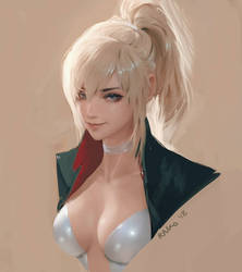 Tess portrait sketch thing by raikoart
