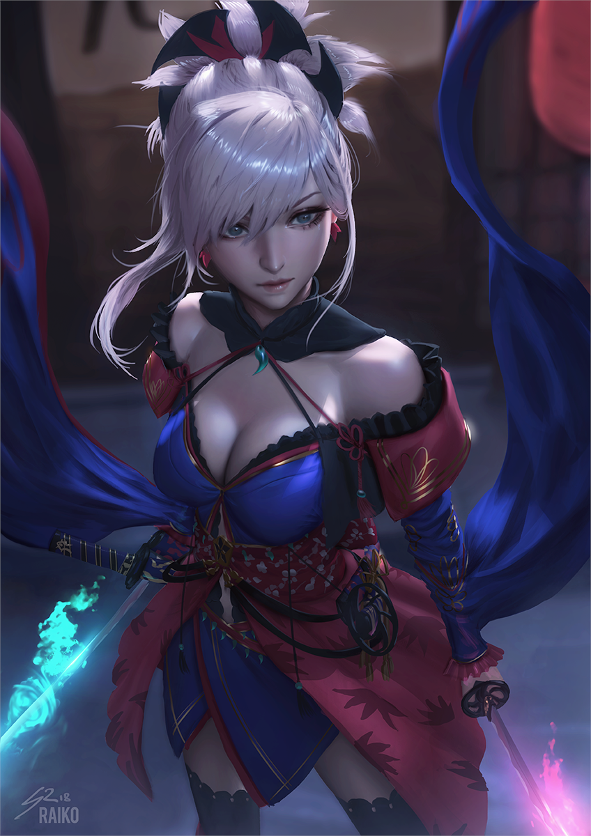 Saber Musashi by raikoart