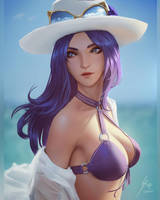 Pool Party Caitlyn by raikoart