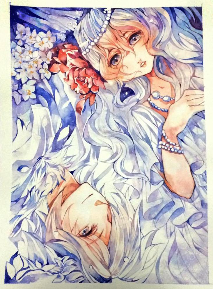 Homework : White fox 2 by berinne