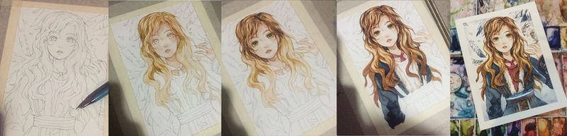 Step watercolor