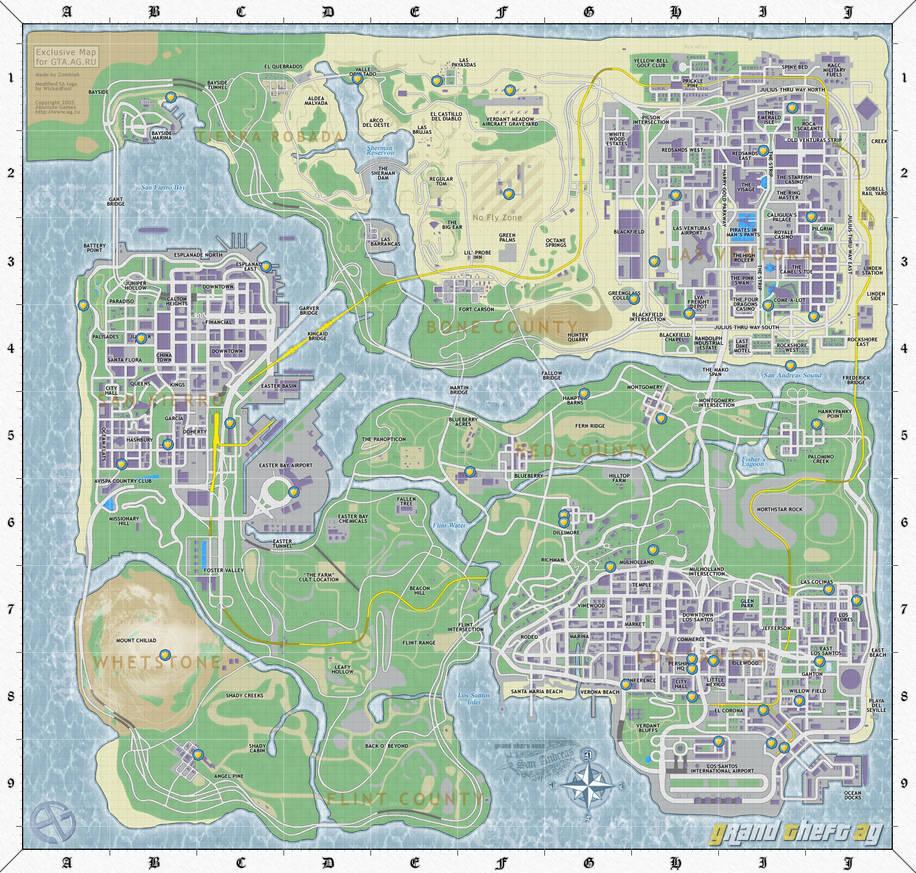 San andreas map