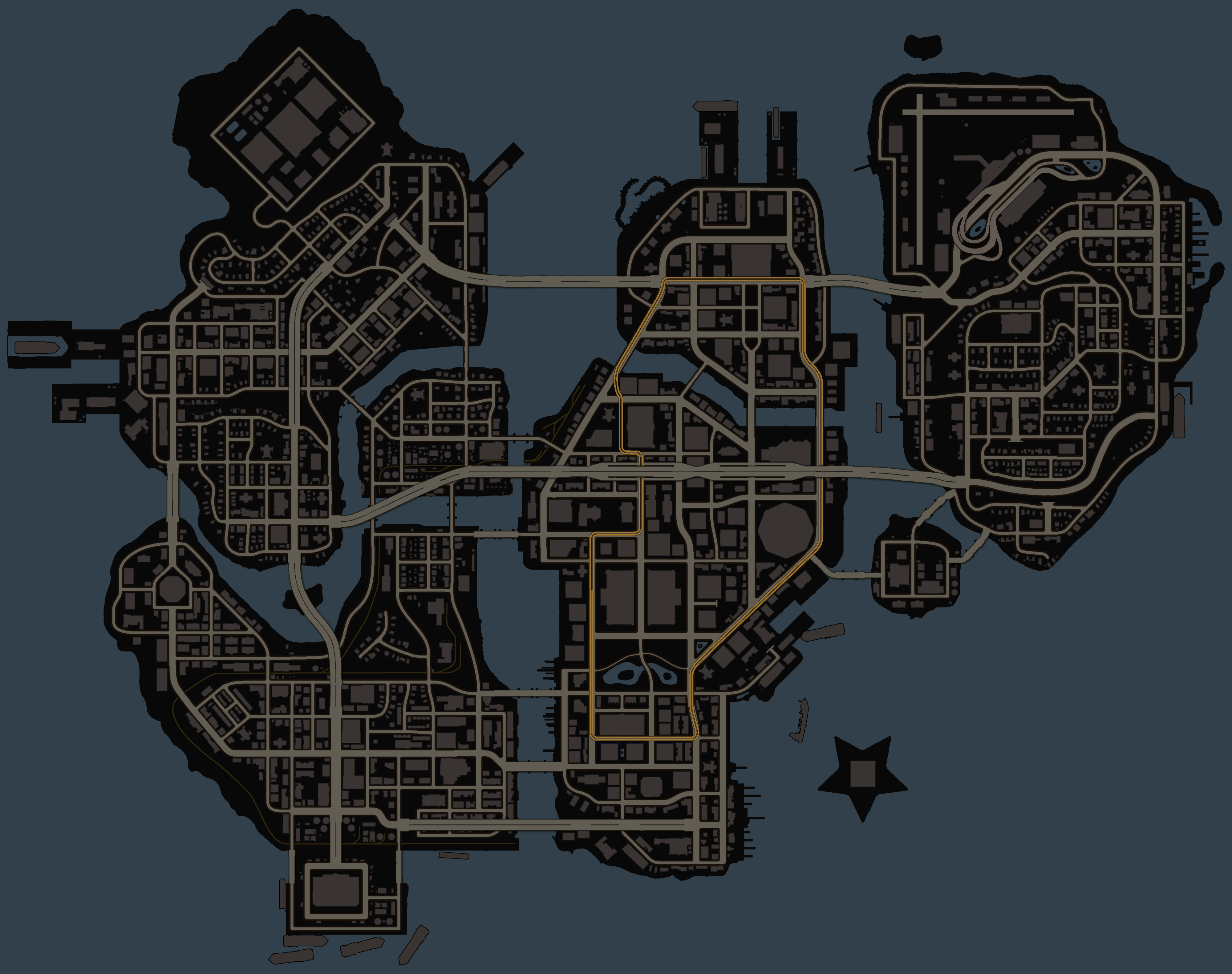 Saint Row 3 and 4 - Map of the Steelport by Unter-offizier ...