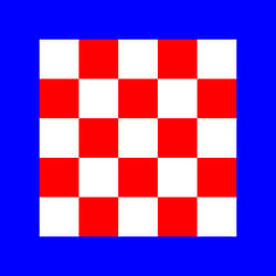 Croatian flag alternative - standart leader - 03
