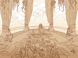 Commission - God's Pedestal by piku-chan