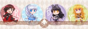 RWBY: Badges! by piku-chan