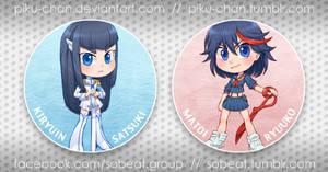 New Badges: Kill la Kill by piku-chan