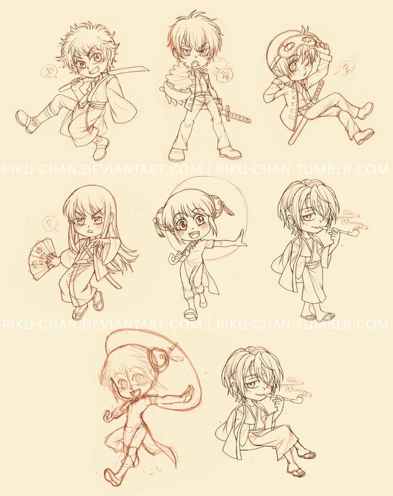 Gintama Cuties by piku-chan