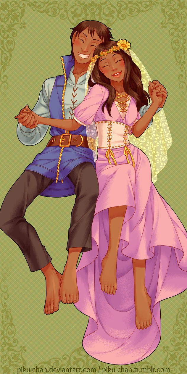 The Groom Herald and his Wife by piku-chan
