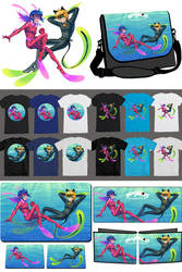 Miraculous Underwater: Fanforge merchandises by piku-chan