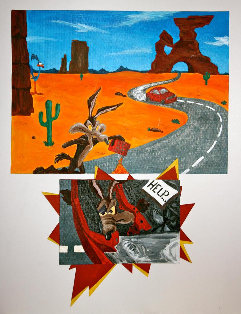 Wile E Coyote Crash