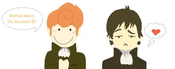 Mr. Darcy and Mr. Bingley by Skyzer04