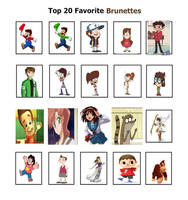 My Top 20 Favorite Brunettes by Angrybirdsguy2001