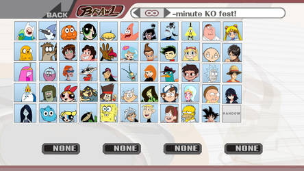 Cartoon And Anime Smash Bros Brawl by Angrybirdsguy2001