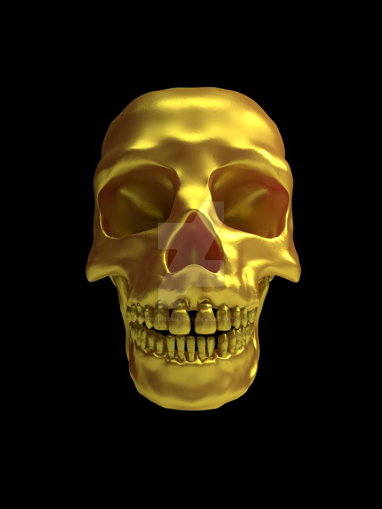 Gold-skull-3000x4000 by undefinedmethod