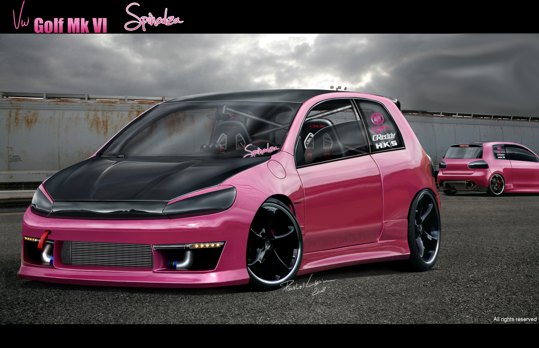 vw golf vi spinodza plus rear by leel00 on deviantart. Black Bedroom Furniture Sets. Home Design Ideas