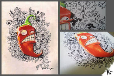 Doodle art :Mean as Hell by kentsunglao