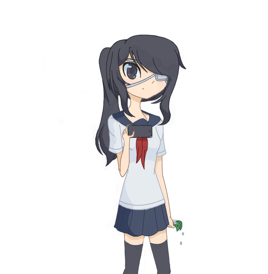 Yandere Chan With Eye Patch Fanart By Kat4Chan