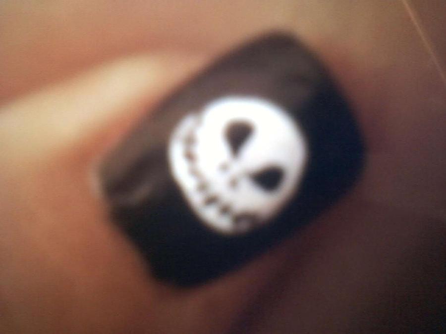 Jack Skellington Nail Design by skatergirl2011 on DeviantArt