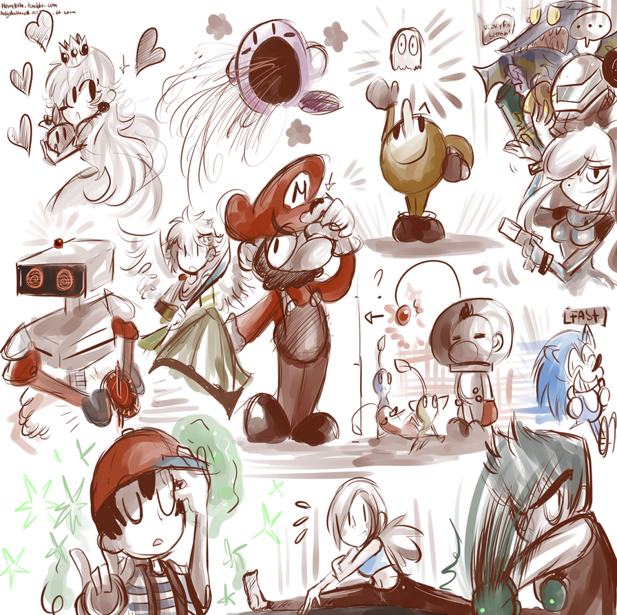 Super Smash Doodles pack 1 by Andgofortheroll-123