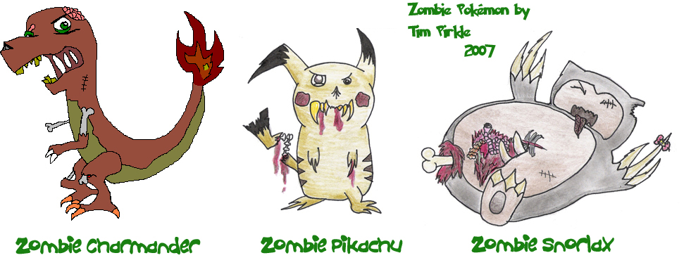 Zombie Pokemon by munjey86