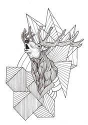 Deer tattoo - Commission