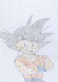 Kid Goku Laughing '03