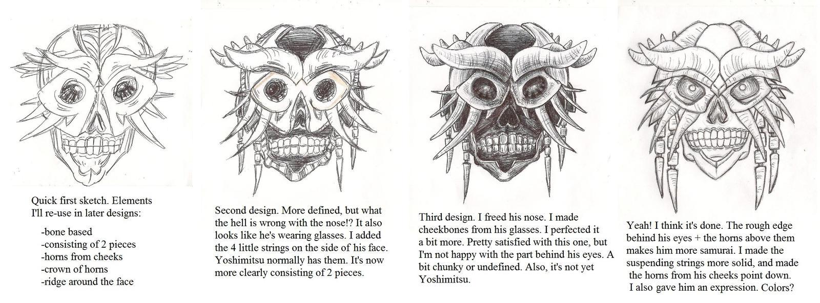 Yoshimitsu Character Design : New yoshimitsu mask designs by kihunter on deviantart