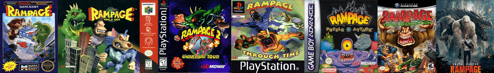 All Rampage Games Movie Ranked By Mk1monsterock1989 On Deviantart