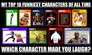 My Top 10 Funniest Characters of All Time