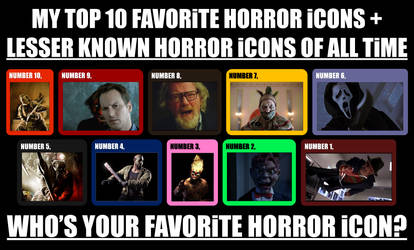 My Top 10 Favorite Horror icons of All Time